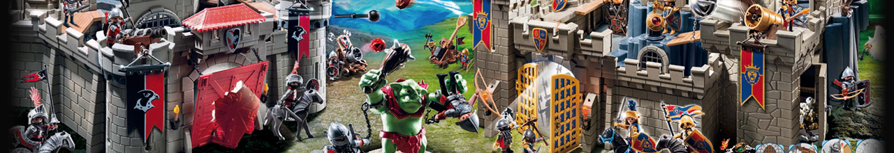 Achat PLAYMOBIL Knights 4912 Duo chevaliers Dragon pas cher