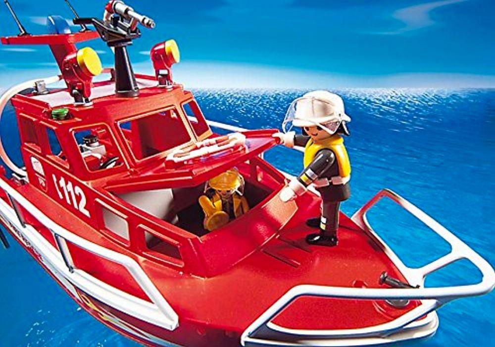 playmobil city action 3128 pas cher bateau des sauveteurs pompiers. Black Bedroom Furniture Sets. Home Design Ideas