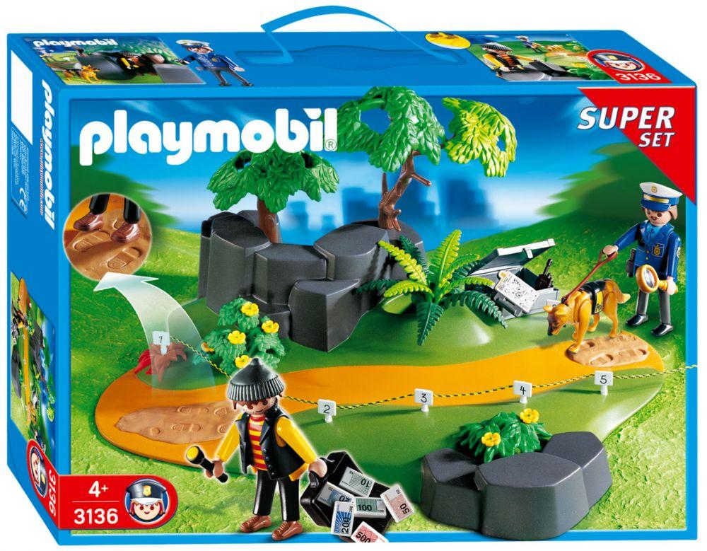 Playmobil city action 3136 pas cher superset policier et - Playmobile policier ...