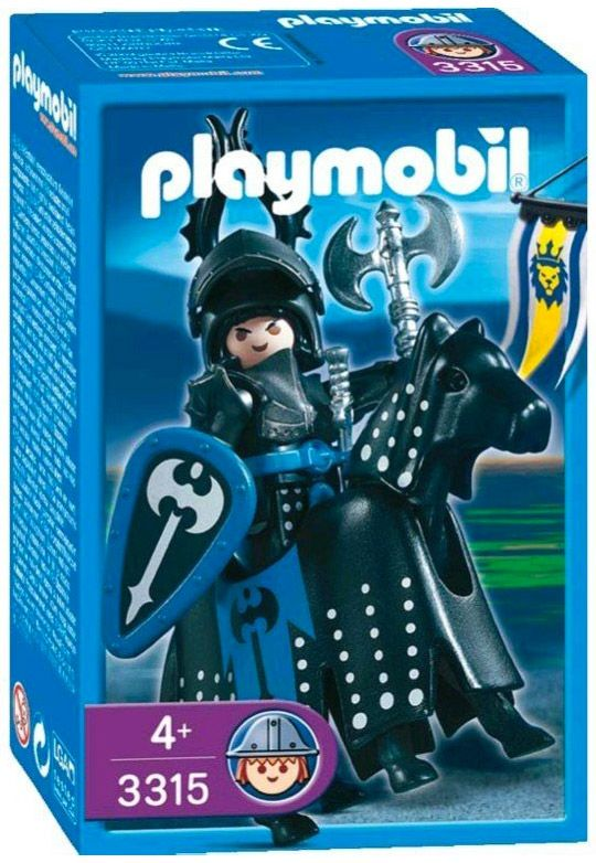 playmobil knights 3315 chevalier noir - Playmobile Chevalier