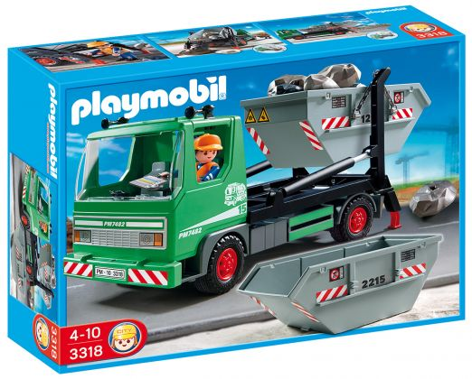 PLAYMOBIL City Action 3318 Camion à bennes basculantes