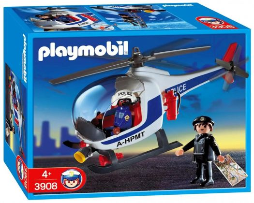 PLAYMOBIL City Action 3908 Policiers d'intervention/hélicoptère