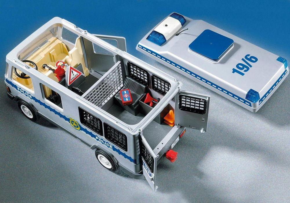 Équipé Playmobil Et Policiers Pas Fourgon 4023 Cher Action City kiTOZPXu
