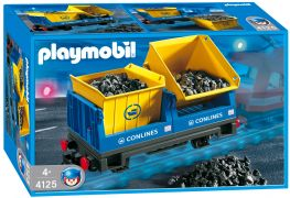 PLAYMOBIL City Action 4125 Wagon avec bennes basculantes
