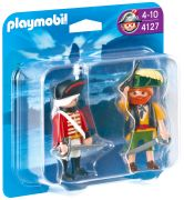 PLAYMOBIL Pirates 4127 - Duo pirate et soldat anglais pas cher