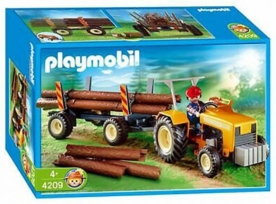 PLAYMOBIL Country 4209 Bûcheron / troncs d'arbres / tracteur