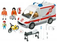 PLAYMOBIL City Action 4221 Ambulanciers / blessé / véhicule