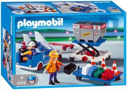 PLAYMOBIL City Action 4315 Agents / porte-containers / escalier mobile