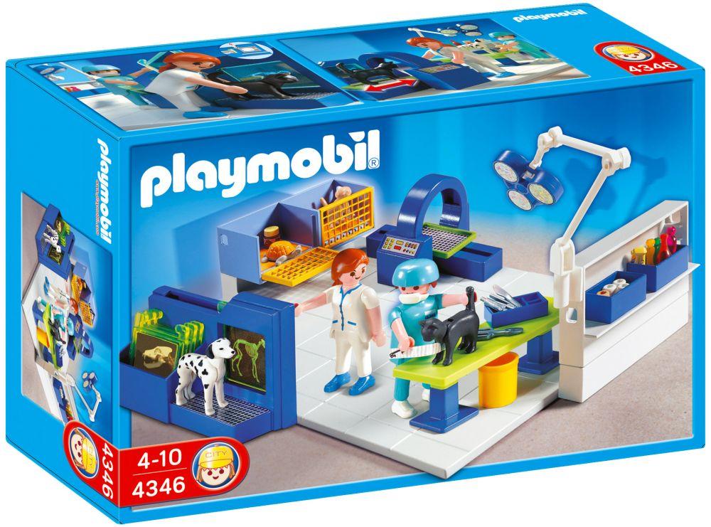 playmobil city life 4346 pas cher equipe v t rinaire et salle d 39 op ration. Black Bedroom Furniture Sets. Home Design Ideas