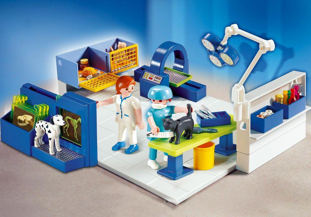 Playmobil city life 4346 pas cher equipe v t rinaire et for Salle a manger playmobil city life