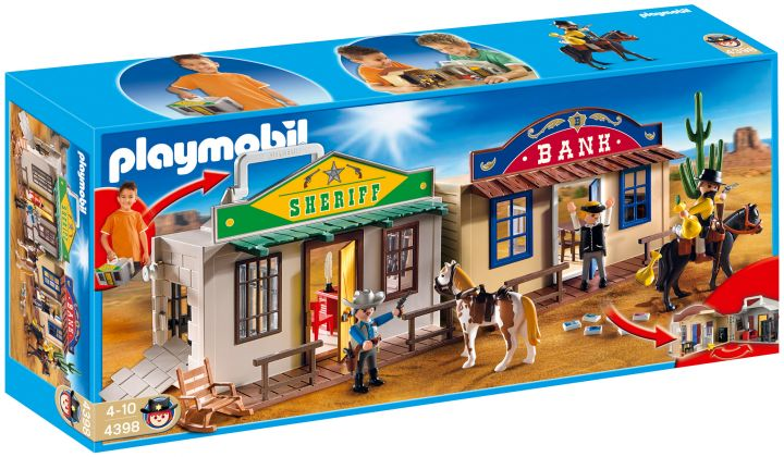 PLAYMOBIL Western 4398 Coffret de cow-boy transportable