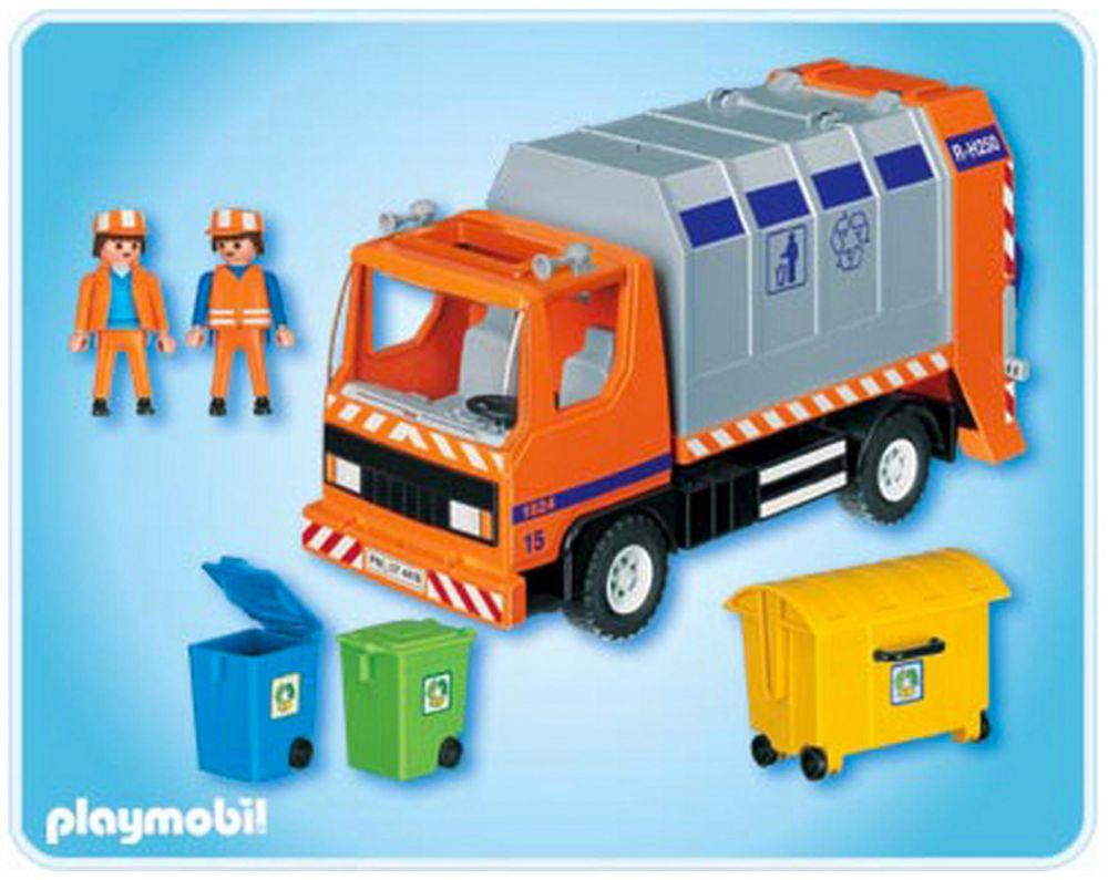 Playmobil city life 4418 pas cher camion de recyclage des ordures - Playmobil camion ...