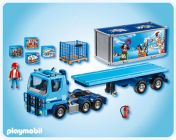 PLAYMOBIL City Action 4447 Camion porte container Playmobil