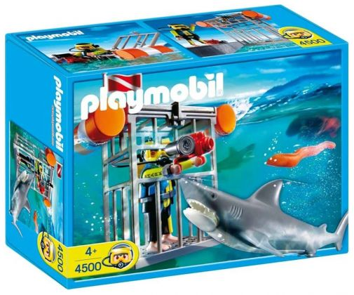 PLAYMOBIL City Action 4500 Plongeur avec requin