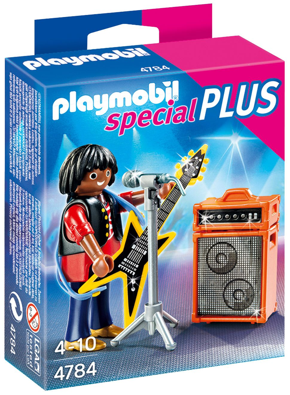 playmobil special plus 4784 pas cher chanteur de rock avec guitare. Black Bedroom Furniture Sets. Home Design Ideas