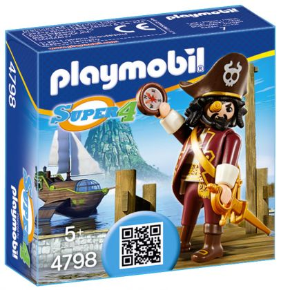 PLAYMOBIL Super 4 4798 Barbe de requin