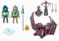 PLAYMOBIL Knights 4840 Chevaliers Dragons Verts et catapulte