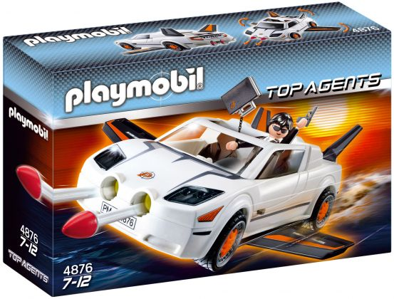 PLAYMOBIL Top Agents 4876 Voiture des Agents Secrets