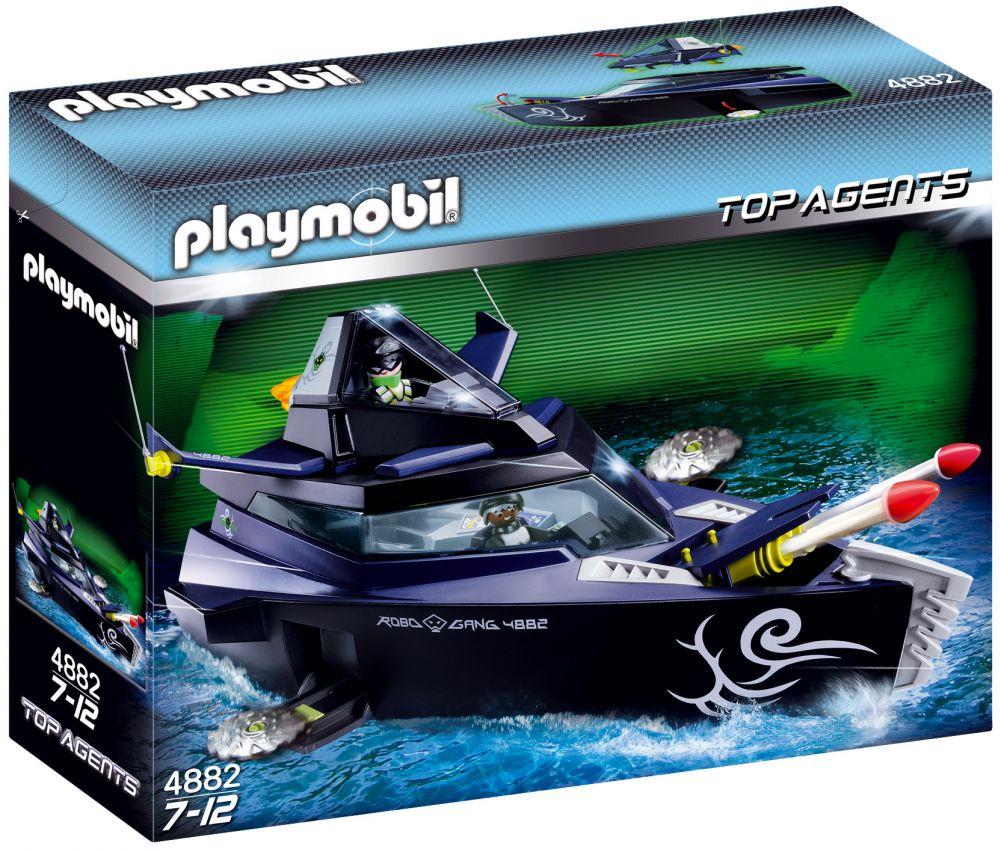 playmobil top agents 4882 pas cher  vaisseau d'attaque du