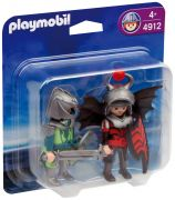 PLAYMOBIL Knights 4912 - Duo chevaliers Dragon pas cher