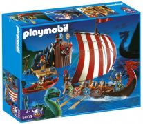 PLAYMOBIL Knights 5003 - Drakkar et camp de Vikings pas cher