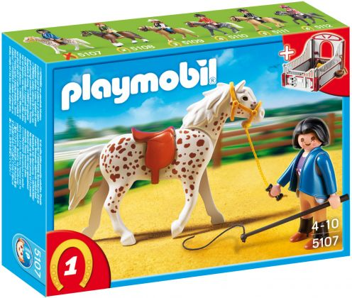 PLAYMOBIL Country 5107 Cheval et monitrice