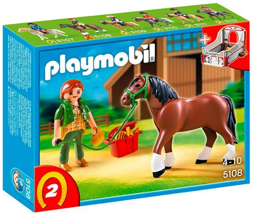 PLAYMOBIL Country 5108 Cheval et palefrenière