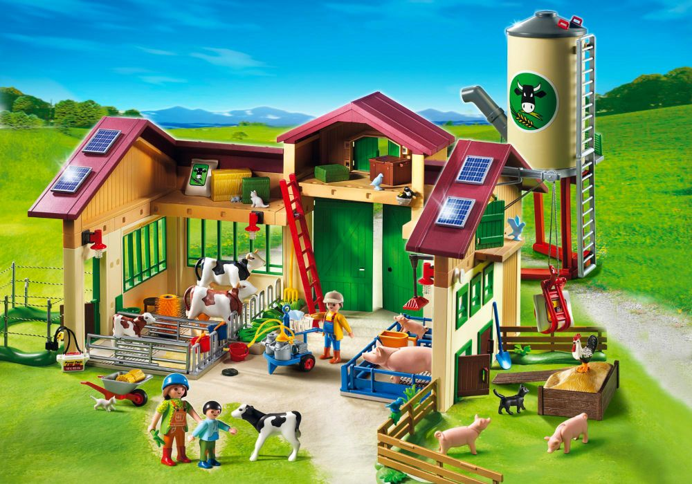playmobil country 5119 pas cher ferme moderne avec silo. Black Bedroom Furniture Sets. Home Design Ideas