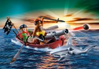 PLAYMOBIL Pirates 5137 Barque des pirates avec requin-marteau