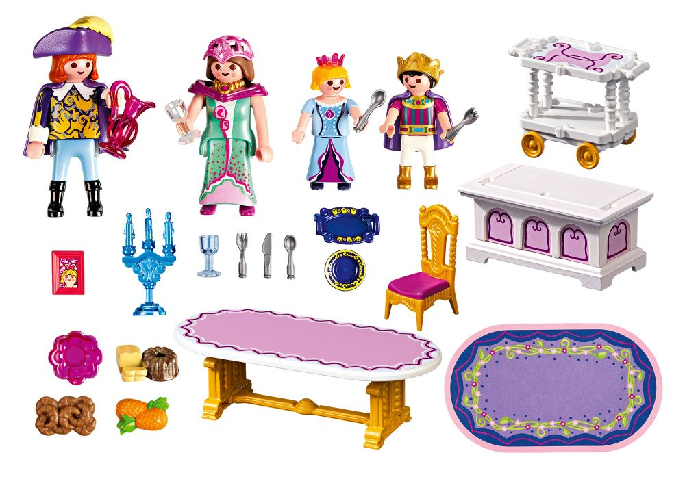playmobil princess 5145 salle manger royale