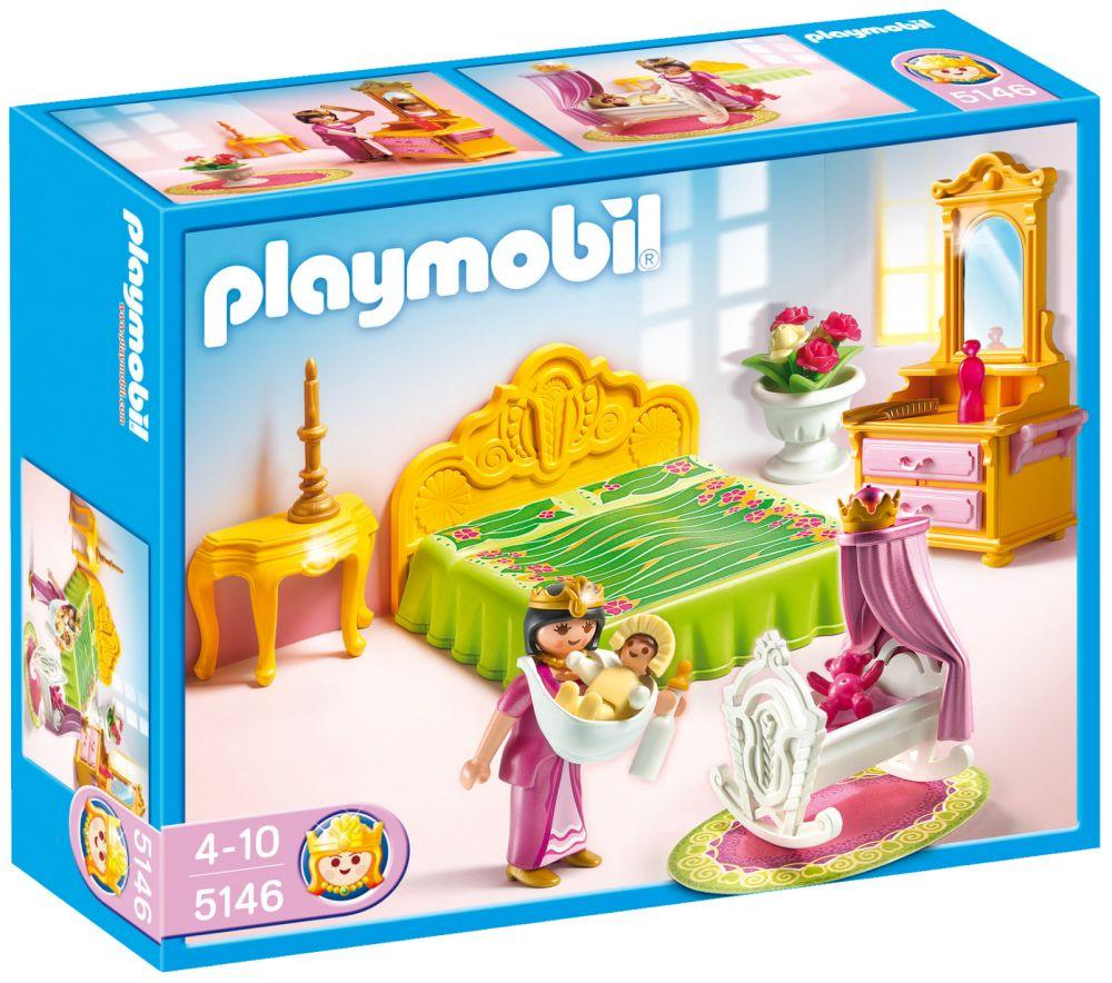 PLAYMOBIL Princess 5146 pas cher - Chambre de la reine avec berceau
