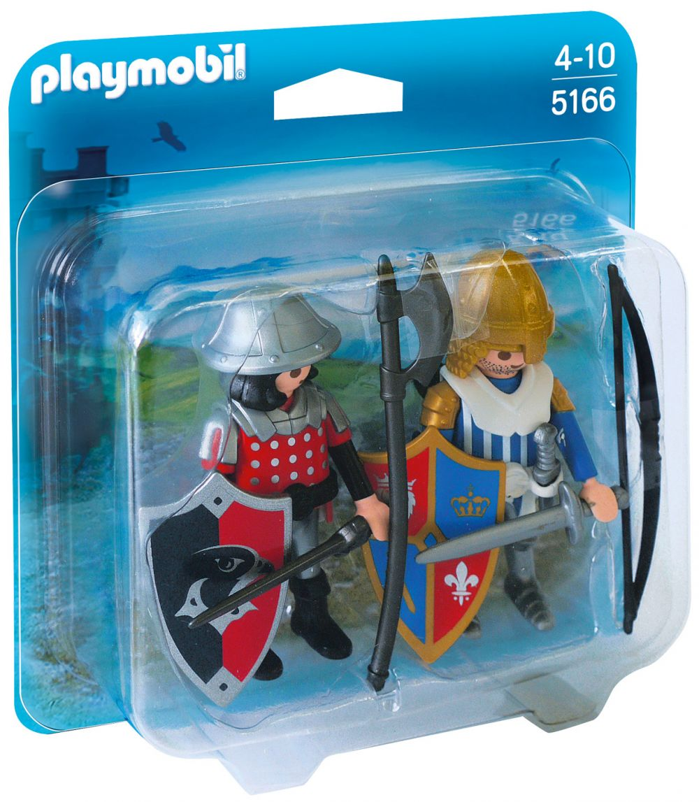 playmobil knights 5166 duo chevalier du lion avec chevalier de laigle - Playmobile Chevalier