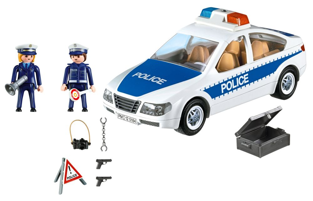playmobil voiture de police. Black Bedroom Furniture Sets. Home Design Ideas