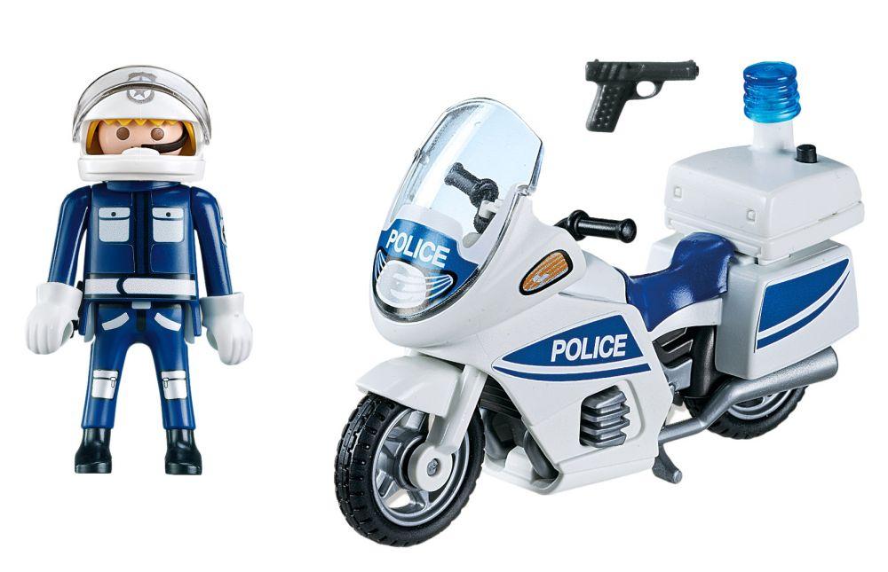 Playmobil city action 5185 pas cher motard de police - Playmobile policier ...