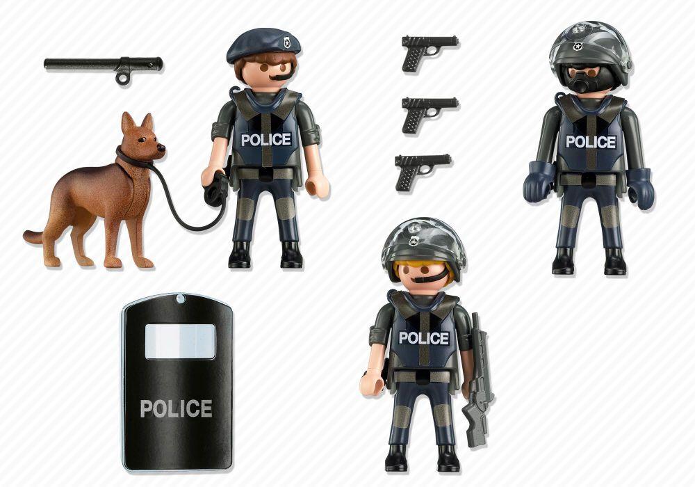 playmobil city action 5186 commando de policiers - Policier Playmobil