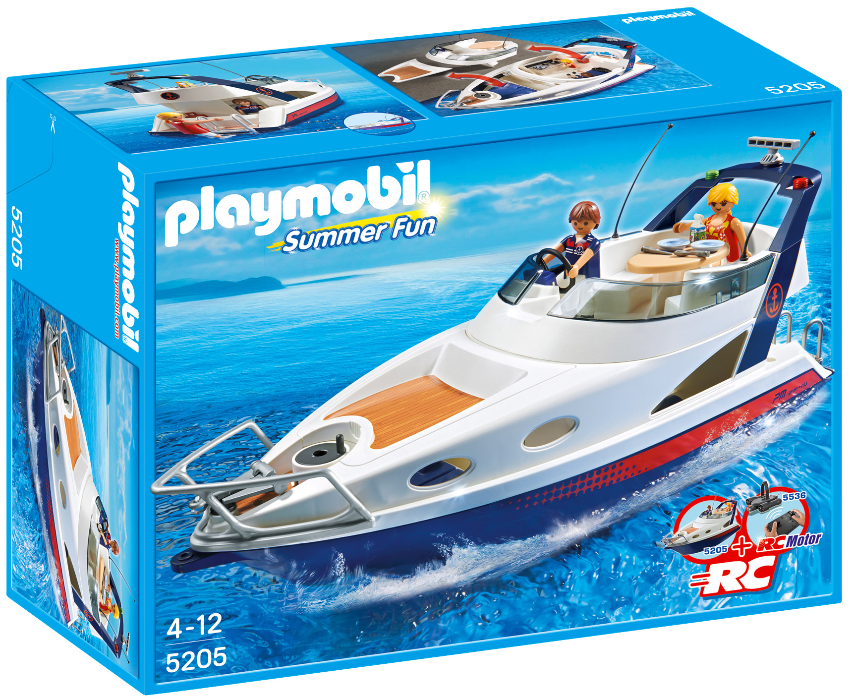 playmobil summer fun 5205 pas cher yacht de luxe. Black Bedroom Furniture Sets. Home Design Ideas