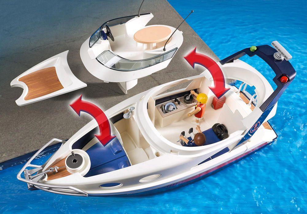 playmobil summer fun 5205 pas cher yacht de luxe. Black Bedroom Furniture Sets. Home Design Ideas