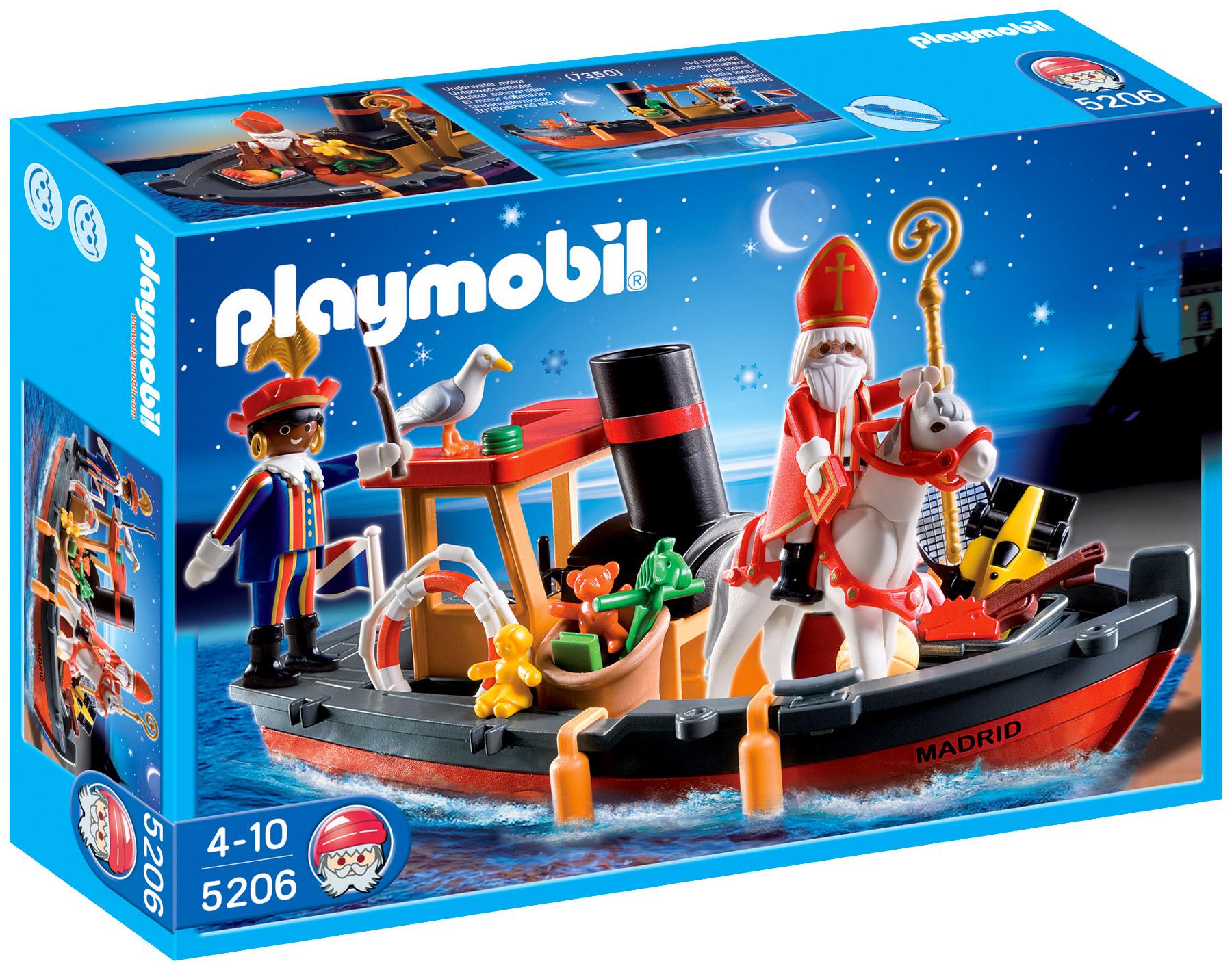 playmobil christmas 5206 pas cher bateau vapeur saint nicolas et p re fouettard. Black Bedroom Furniture Sets. Home Design Ideas