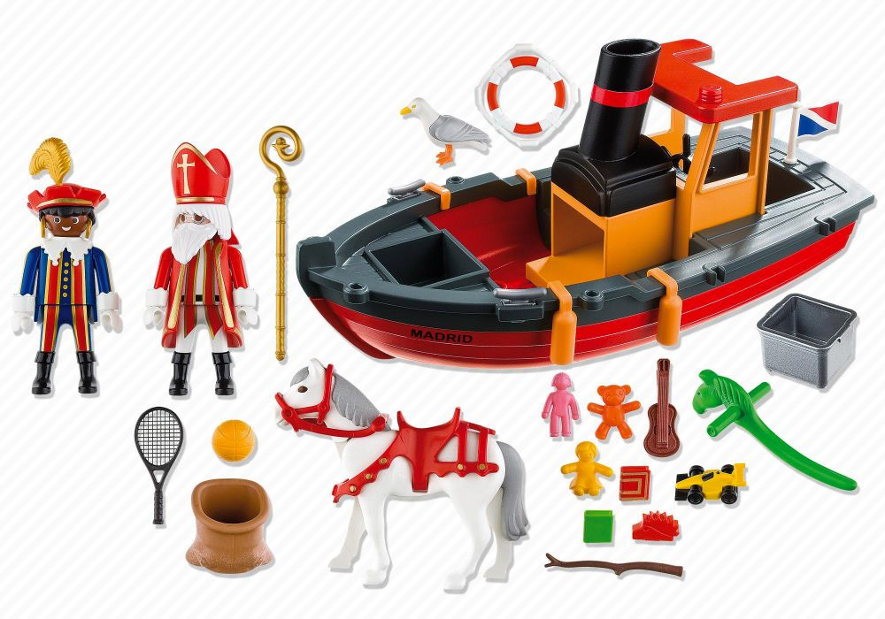 playmobil christmas 5206 pas cher bateau vapeur saint. Black Bedroom Furniture Sets. Home Design Ideas