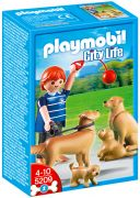 PLAYMOBIL City Life 5209 Famille de Golden Retrievers