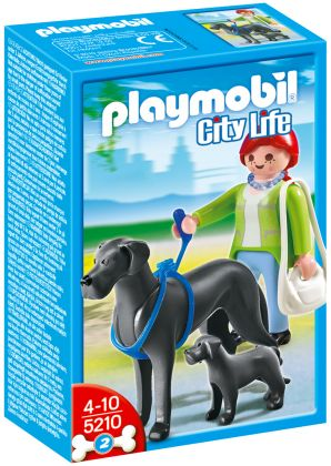 PLAYMOBIL City Life 5210 Dogue Allemand et son petit