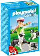PLAYMOBIL City Life 5213 - Famille de Borders Collies pas cher