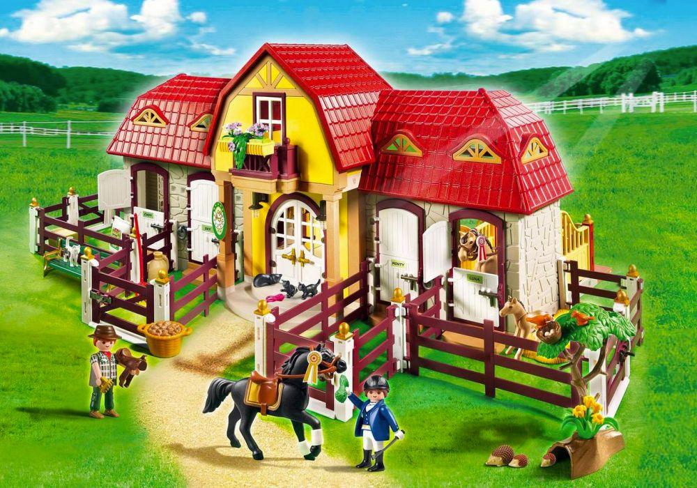 Playmobil country 5221 pas cher haras avec chevaux et enclos - Playmobil haras ...