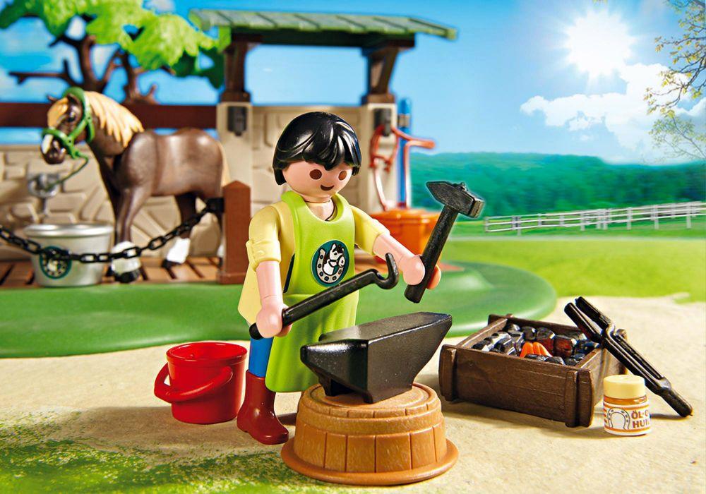 Playmobil country 5225 pas cher box de soins pour chevaux - Douche pour chevaux playmobil ...