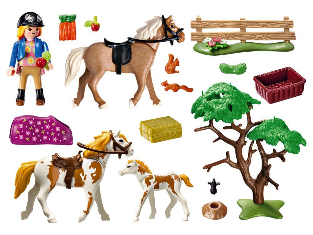 playmobil country 5227 pas cher chevaux et enclos. Black Bedroom Furniture Sets. Home Design Ideas