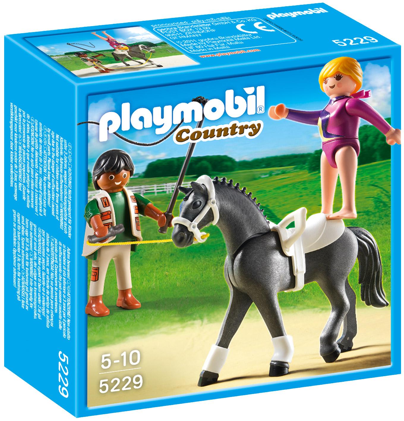 Playmobil country 5229 pas cher dresseur de chevaux et - Playmobil haras ...