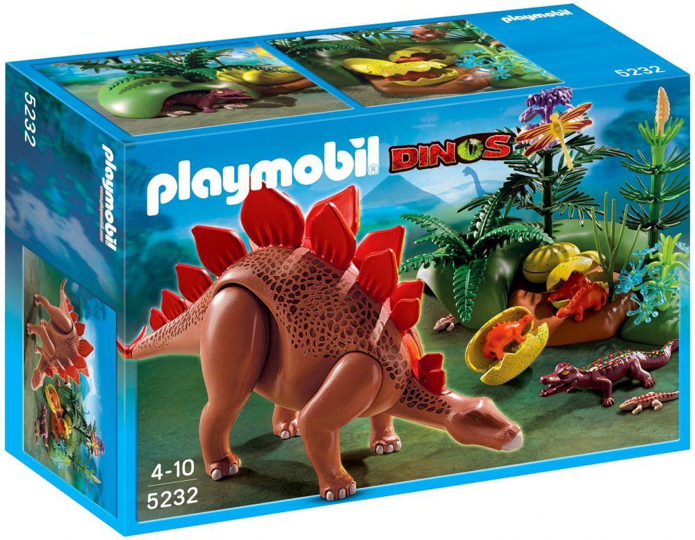 Cher En Et Bébés Stégosaure Dinos Ses Playmobil Pas 5232 Fôret DeH9YWIE2b