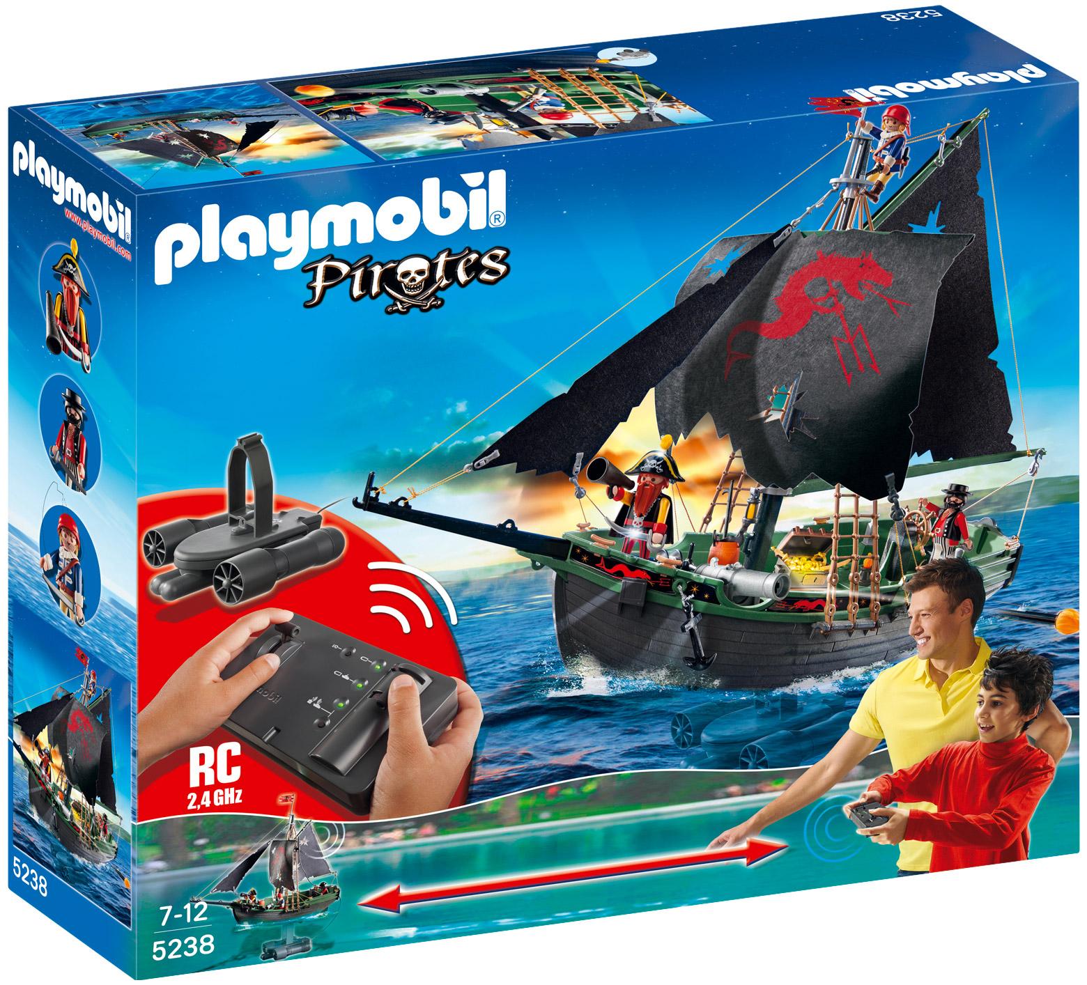playmobil pirates 5238 pas cher bateau pirates avec moteur submersible. Black Bedroom Furniture Sets. Home Design Ideas