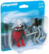 PLAYMOBIL Knights 5240 - Duo chevalier Dragon et chevalier de Fer pas cher