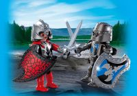 PLAYMOBIL Knights 5240 Duo chevalier Dragon et chevalier de Fer